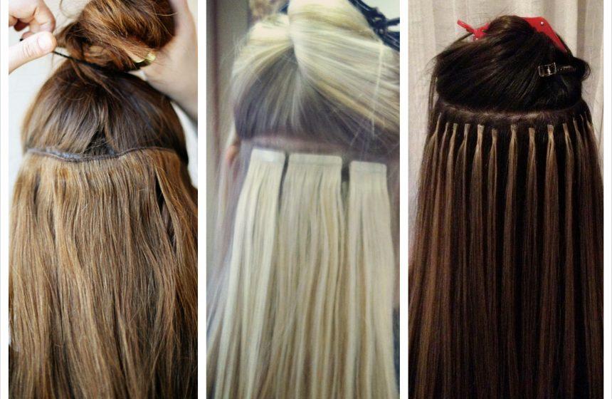 """Удължаване и сгъстяване на коса в """"Студио за красота ЛМ"""" 100% естествена коса – треси, удължаване чрез зашиване, удължаване чрез стикери или силиконови пръстени."""